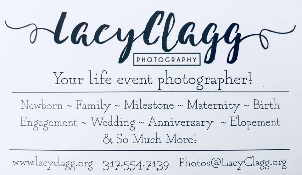 Lacy Clagg Photography - Lafayette Indiana - Weddings and More Business Card