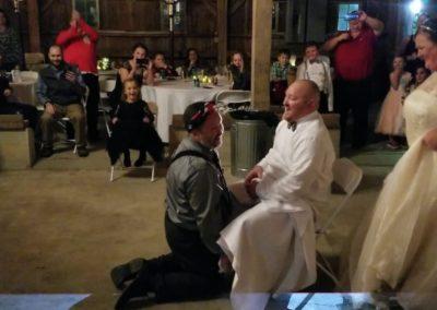 Bride Plays Prank on Husband at wedding